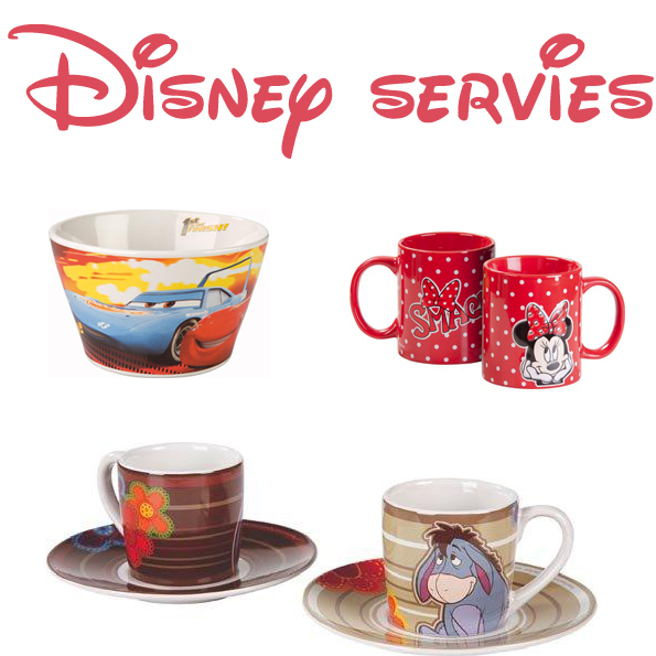 Disney servies en glaswerk