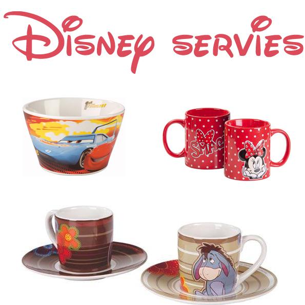 Disney servies en glaswerk