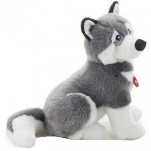 Trudi Knuffel Hond Husky 45 Cm Grijs/wit