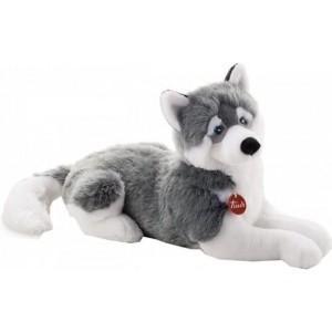 Trudi Knuffel Hond Husky 60 Cm Grijs/wit