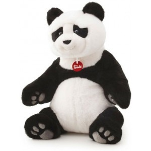 Trudi Knuffelbeer Pandabeer Kevin 45 Cm Zwart / Wit