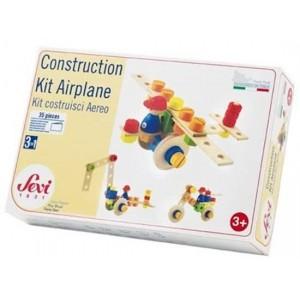 Sevi Constructie Set Vliegtuig Hout 35-delig