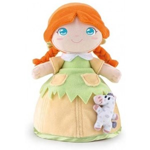 Trudi Knuffelpop Polly met Konijn Groen/oranje 24 Cm