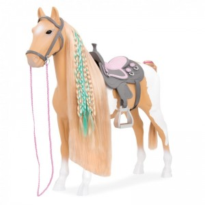 "Our Generation Paard Palomino Beige Wit 51cm ""From Hair to There"""