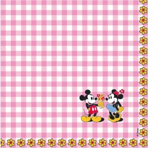 Best of Mickey servetten Pretty Pink