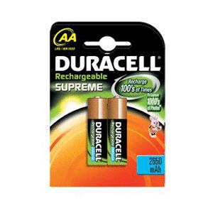 Duracell Supreme oplaadbare AA batterij LR06 blister van 2 stuks