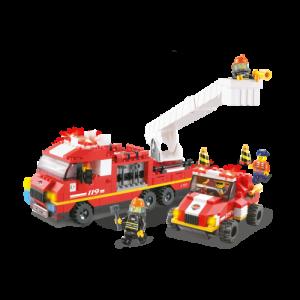 Sluban Brandweer Ladderwagen en Jeep