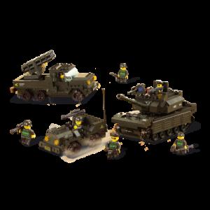 Sluban Jeep, Tank en Raketwerper