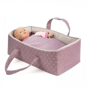 Mini Mommy Poppen Reiswieg Paars 44 cm