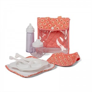 Mini Mommy Voedingsset Dusty Roze 8-delig 16 Cm